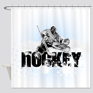 Hockey Player Shower Curtain