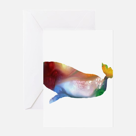 sperm whale Greeting Cards
