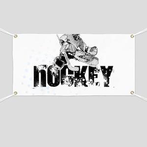 Hockey Player Banner