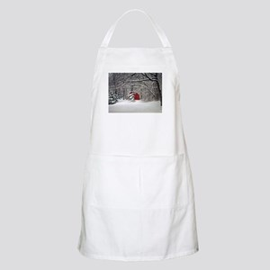 Red Barn in the Snow 2011 Apron