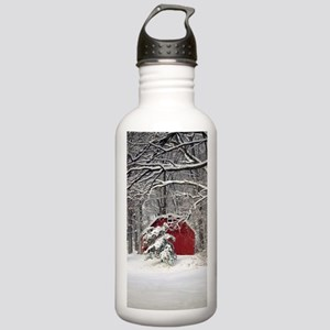 Red Barn in the Snow 2011 Water Bottle