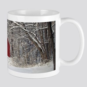 Red Barn in the Snow 2011 Mugs