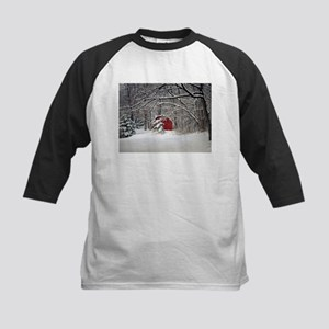 Red Barn in the Snow 2011 Baseball Jersey