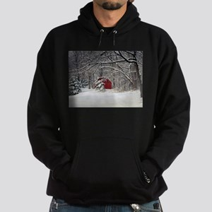 Red Barn in the Snow 2011 Hoodie
