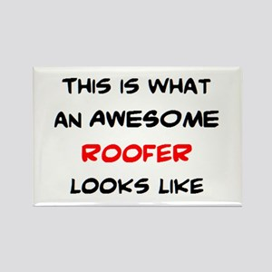 awesome roofer Rectangle Magnet
