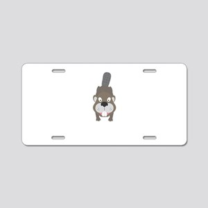 Cute Beaver Aluminum License Plate