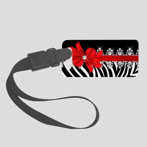 Zebra (red) Small Luggage Tag