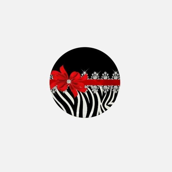 Zebra (red) Mini Button