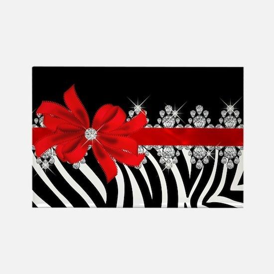 Zebra (red) Rectangle Magnet