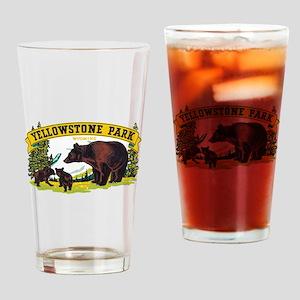 Yellowstone Bears Drinking Glass