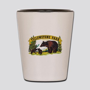 Yellowstone Bears Shot Glass