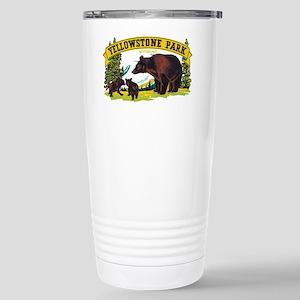 Yellowstone Bears Stainless Steel Travel Mug