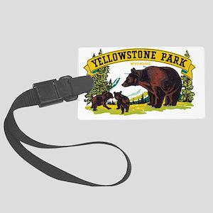 Yellowstone Bears Large Luggage Tag