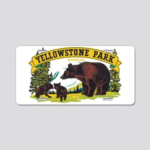Yellowstone Bears Aluminum License Plate