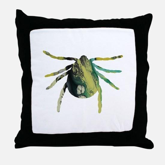 Tick Throw Pillow