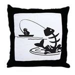 Fish Till I Die Throw Pillow