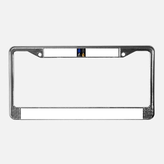 Cute Crucifixion License Plate Frame