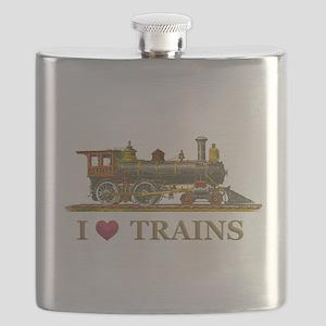 I Love Trains Flask