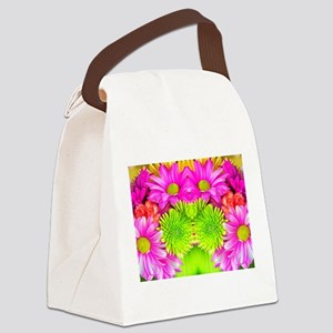 Glowing Gerbera Daises Canvas Lunch Bag