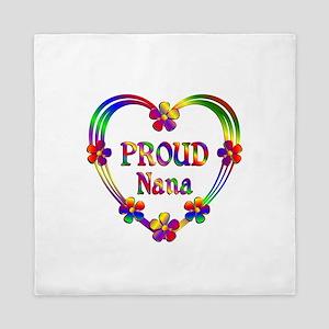 Proud Nana Heart Queen Duvet