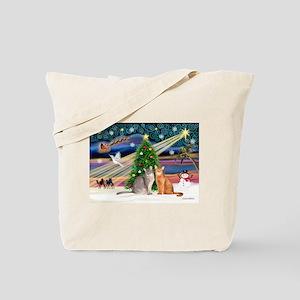 XMagic-2 Abyssinian cats Tote Bag