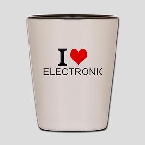 I Love Electronics Shot Glass