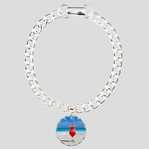 daiquiri paradise beach Charm Bracelet, One Charm