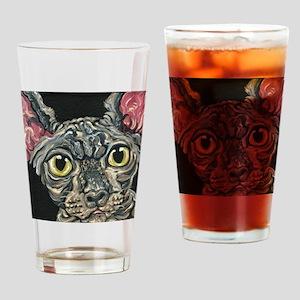 Sphynx Hairless Cat Drinking Glass