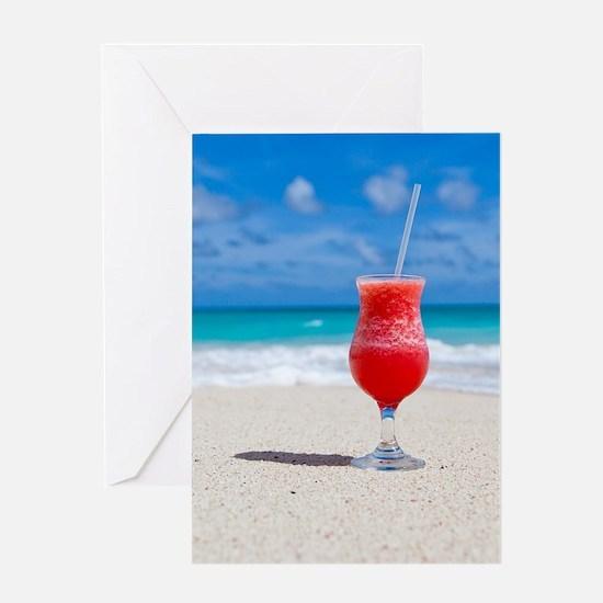 daiquiri paradise beach Greeting Cards