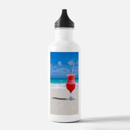 daiquiri paradise beac Water Bottle
