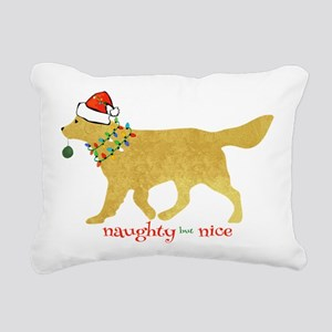 Naughty Christmas Golden Retriever Rectangular Can