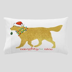 Naughty Christmas Golden Retriever Pillow Case