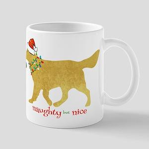 Naughty Christmas Golden Retriever Mugs