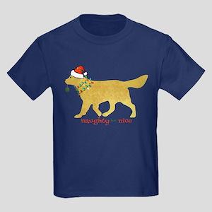Naughty Christmas Golden Retriever T-Shirt