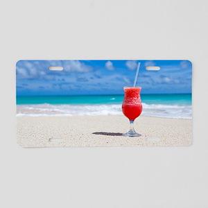 daiquiri paradise beach Aluminum License Plate