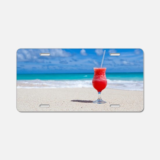 daiquiri paradise beach Aluminum License Plate