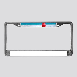 daiquiri paradise beach License Plate Frame