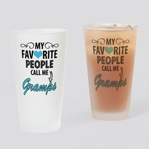 My Favorite People Call Me Gramps Drinking Glass