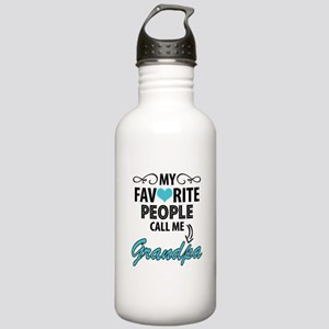 My Favorite People Call Me Grandpa Water Bottle