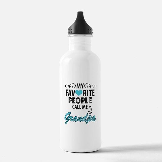 My Favorite People Call Me Grandpa Water Bottle