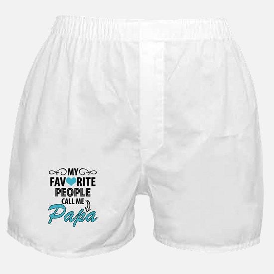 My Favorite People Call Me Papa Boxer Shorts