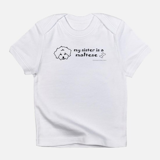 Cute Maltese and pit bull Infant T-Shirt