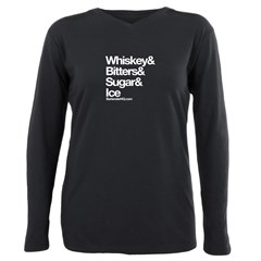Old Fashioned Bartender Plus Size Long Sleeve Tee