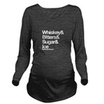 Old Fashioned Bartender Long Sleeve Maternity T-Sh