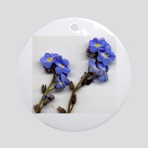 Forget me nots Round Ornament