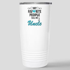 My Favorite People Call Me Uncle Travel Mug