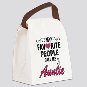 My Favorite People Call Me Auntie Canvas Lunch Bag