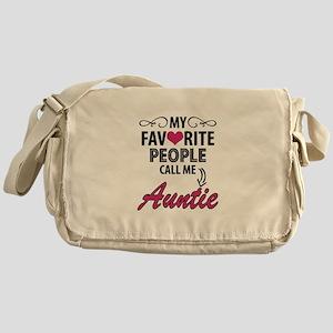 My Favorite People Call Me Auntie Messenger Bag