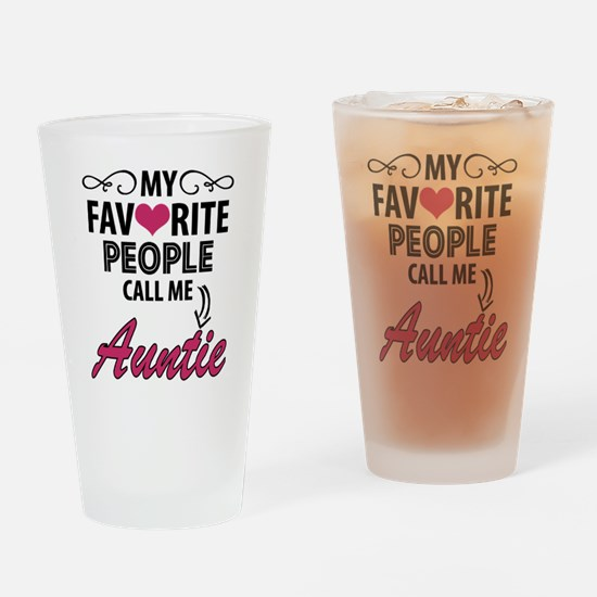 My Favorite People Call Me Auntie Drinking Glass