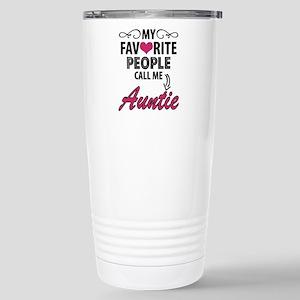 My Favorite People Call Me Auntie Travel Mug